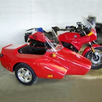 Kenna Single Side Car Motorcycle Sidecar Kit - Fits All Models