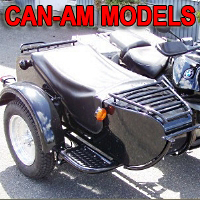 M72D Single Side Car Motorcycle Sidecar Kit - Fits All Can-Am Models