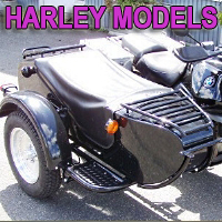 M72D Single Side Car Motorcycle Sidecar Kit - Fits All Harley Models