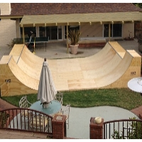 16 Foot Wide Half Pipe Skateboard Ramp