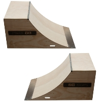 4 Foot Wide Quarter Pipe Ramp - 2pk