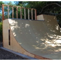 5 Foot Tall Half Pipe Skateboard Ramp