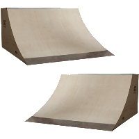 6 Foot Wide Quarter Pipe Ramp - 2pk