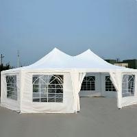 Decagonal Wedding Party Gazebo Tent Canopy - White