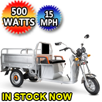 500 Watt Electric Powered Cargo Truck Motorized 3 Wheel Trike Bicycle