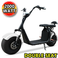 2000W Electric Fat Tire E-Mod 60V Scooter Moped Bike w/ Double Seat