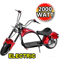 Electric Fat Tire E-Mod 2000 Watt Scooter Chopper Bike