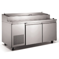 "New 71"" Two 2 Door Commercial Refrigerated Pizza Salad Prep Table Restaurant"