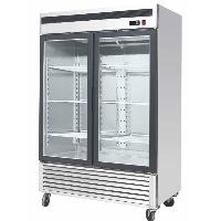 """55"""" Commercial Glass 2 Double Door Freezer Reach In Merchandiser Cooler"""