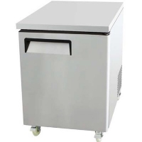 """27.5"""" Undercounter Stainless Steel Single Door Refrigerator Restaurant"""