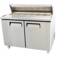"Restaurant Style 48"" 2 Door Refrigerated Mega Top Salad Prep Table 15 Cu. Ft."