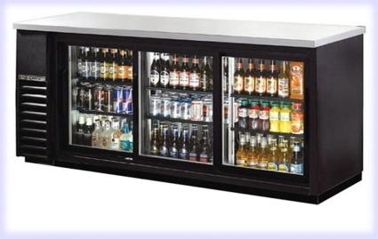 72 Quot Commercial Black Triple Door Back Bar Cooler