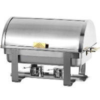 Commercial Stainless Steel Chafing Dish Food Buffet Warmer w/ Brass Handles