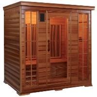 4 - 5 Person (Flat Wall Type) FIR Infrared Carbon Fiber Sauna - With RED CEDAR