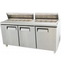 "Restaurant 73"" 3 Door Refrigerated Mega Top Salad Prep Table 22.5 Cu. Ft."