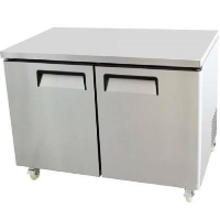 "48"" Double 2 Door Under Counter Undercounter Stainless Commercial Refrigerator"