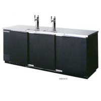 "NEW Black 72"" Back Bar Cooler Kegerator Beer Dispenser Refrigerator 3 KEGS!"