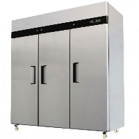 Commercial Triple Door Stainless Reach In Refrigerator Cooler 72 C.F