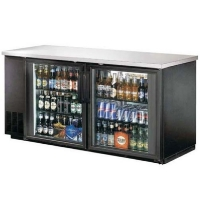 "60"" Back Bar Beer Bottle Cooler Refrigerator w/ Stainless Top"
