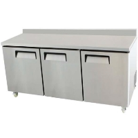 "72"" Commercial Stainless Worktop Undercounter Refrigerator Cooler Prep Table"