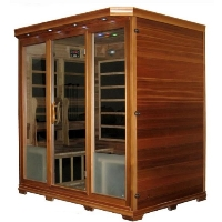 4-5 Person Canadian Redwood Cedar FIR Infrared Sauna with Carbon Heating Panels