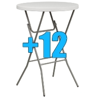 "High Quality Package of 12 32"" Bar Height Cocktail Tables"
