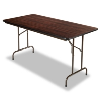High Quality 4ft Heavy Duty Walnut Folding Table
