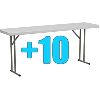 High Quality Package of 10 6ft Folding Tables