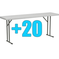 High Quality Package of 20 8ft Folding Tables