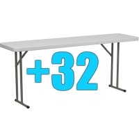 High Quality Package of 32 6ft Folding Tables