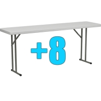 High Quality Package of 8 6ft Folding Tables