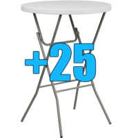 "High Quality Package of 25 32"" Bar Height Cocktail Tables"
