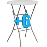 "High Quality Package of 6 32"" Bar Height Cocktail Tables"