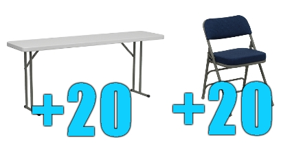 Wondrous High Quality Package Of 20 Upholstered Folding Chairs 20 6Ft Folding Tables Spiritservingveterans Wood Chair Design Ideas Spiritservingveteransorg
