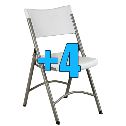 high quality package of 4 heavy duty resin folding chairs