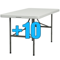 High Quality Package of 10 5ft Bi-Fold Folding Tables