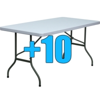 High Quality Package of 10 5ft Folding Tables
