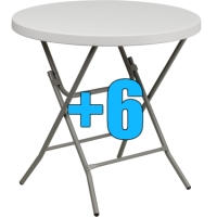 "High Quality Package of 6 32"" Cocktail Tables"