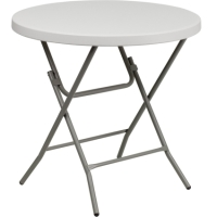 "High Quality 32"" Round White Cocktail Table"