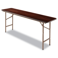 "High Quality 5ft Heavy Duty 60"" x 18"" Walnut Folding Table"