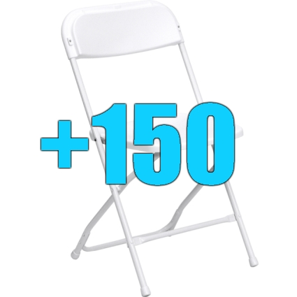 Take A Look At This High Quality Package Of 150 White Steel Frame Folding  Chairs. This Lot Is Perfect For Seating Big Crowds At Outdoor Events.