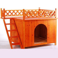 Raised Wooden Dog House