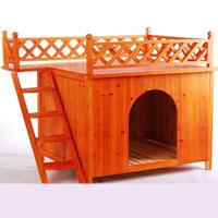 Raised Wooden Dog House