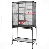 30x18x63 iron bird cage