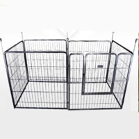 Heavy Duty Rectangular Metal Exercise and Play Pen for Dogs and Cats