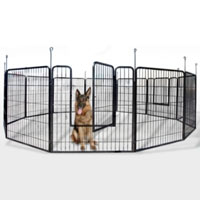 2 Heavy Duty Rectangular Metal Exercise and Play Pens for Dogs and Cats