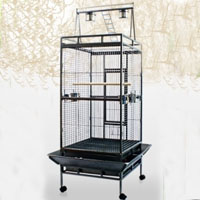 "Brand New Black Large Play Top Bird Cage 24""x22""x37.5"""