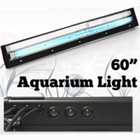 "60"" 322 Watt Aquarium Light Hood Power Compact Free Coral Marine"