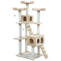 Brown and Beige 6-in-1 Cat Tree House