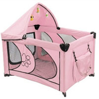 """High Quality Pink 45"""" Dog Play Pen with Canopy"""
